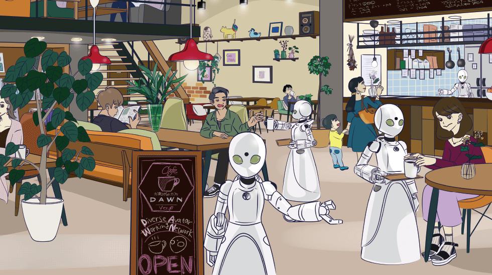L'idée conceptuelle du restaurant Eve ne laisse aucun jeu Jikan anime dans un futur où les robots font partie de la vie quotidienne, et où une dichotomie morale représentée par les citoyens qui traitent comme de simples robots des outils et des gens qui traitent ces machines est présentée comme égale. L'un des endroits où l'histoire est un bar où les humains et les robots coexistent sur un pied d'égalité.